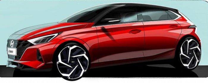 Hyundai опубликовала официальный тизер нового хетчбэка i20